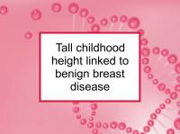 Tall height linked to benign breast disease