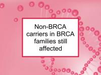 Non-BRCA carriers in BRCA families still affected