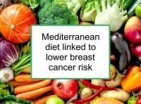 Mediterranean diet linked to lower breast cancer risk