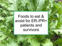 Foods to eat & avoid for ER-/PR+ BC