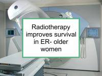 Radiotherapy improves survival in old women