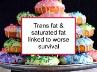 Trans fat & saturated fat linked to worse survival