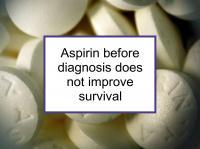 Aspirin bef diagnosis does not incr survival