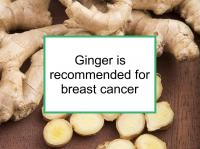 Ginger is recommended for breast cancer