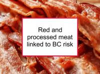 Red and processed meat linked to BC risk