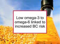Low omega-3 to omega-6 linked to increased BC