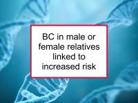 BC in male or female relatives increases risk