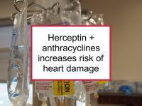 Herceptin + anthracycline increases heart damage