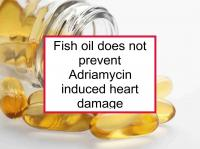 Fish oil does not prevent Adriamycin heart damage