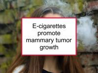 E-cigarettes promote mammary tumor growth