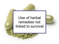 Use of herbal remedies not linked to survival