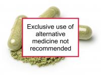 Exclusive use of alternative medicine not recommended