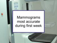Mammograms most accurate first week