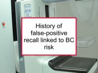 History of false-positive recall linked to BC risk