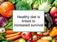 Healthy diet is linked to increased survival