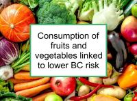 Consumption of fruits and vegetables linked to lower BC risk