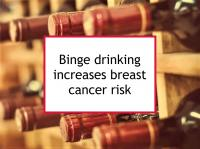 Binge drinking increases breast cancer risk