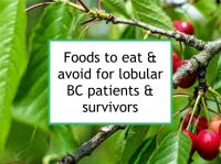 Foods to eat & avoid for lobular BC patients & survivors