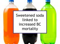Sweetened soda linked to increased BC mortality